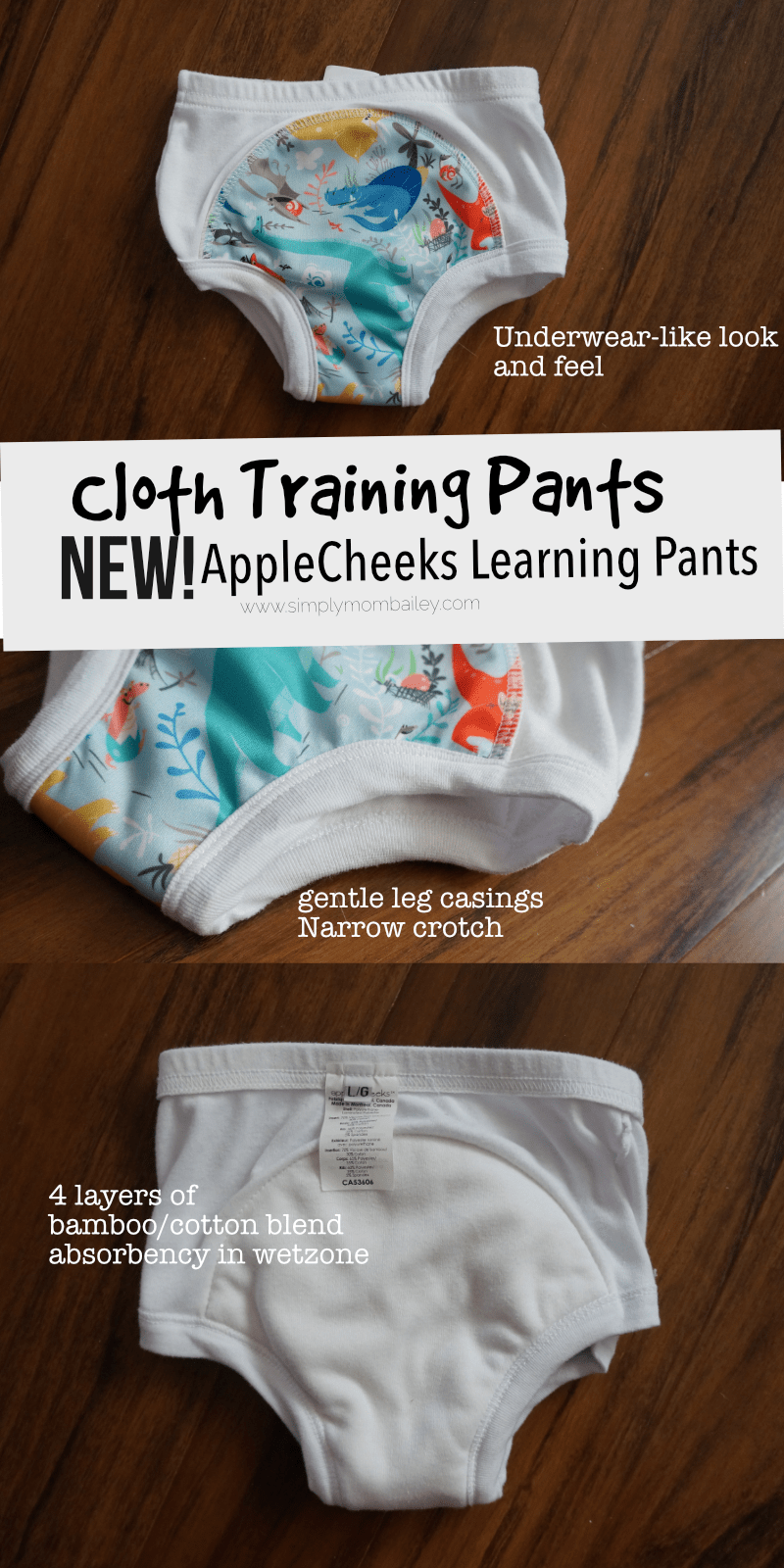 New AppleCheeks Learning Pants for Potty Training Toddlers - Redesigned AppleCheeks - Cloth Trainers - Cloth Underwear - Potty Training - Toilet Training - Pull Ups