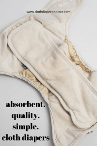 Absorbent, quality, simple cloth diapers