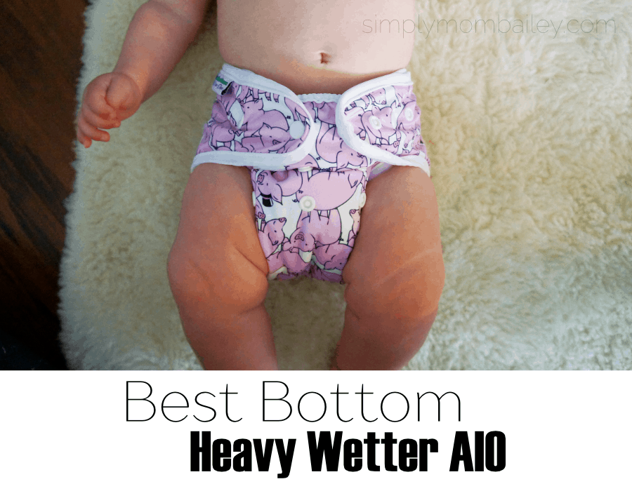 BestBottom Heavy Wetter AIO - Best Bottom Cloth Diapers - #clothdiapers All in one style diaper for heavy wetters, best cloth diapers for babies