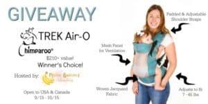 GIVEAWAY – Chimparoo TREK Air-O Carrier 9/15 – 10/15