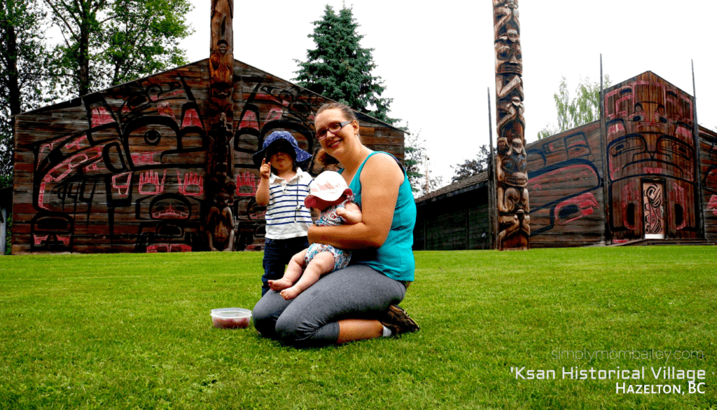 How to visit a Historical Site with a Toddler - 'Ksan Historical Village in Hazelton, BC with Kids - Explore British Columbia