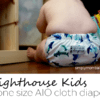 Lighthouse Kids Cloth Diaper - AIO Cloth DIaper - On a Baby -Easy to use cloth diapers - shark diaper
