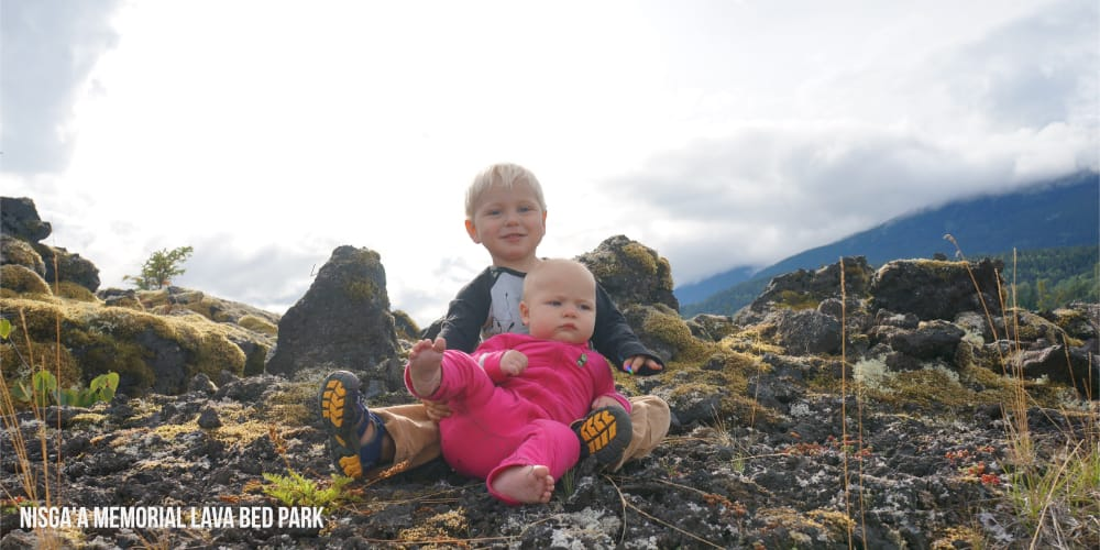 Nisgaa Memorial Lava Bed Park - Lava Fields near Terrace, BC #exploreBC #travelCanada - Family Travel - Things to do with Kids - Hiking - Terrace, BC - Prince Rupert, BC, Northern BC, Things to do in BC