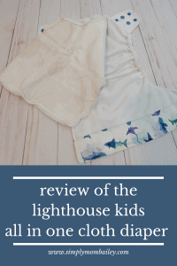 Review of the Lighthouse Kids AIO Cloth Diaper