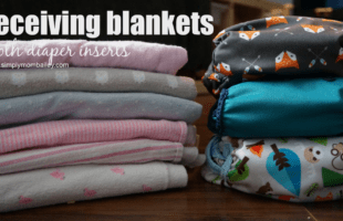 Cloth Diapering with Receiving Blankets