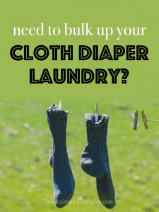 Wondering what you can add to your cloth diaper laundry? Maybe you need help bulking up the load?
