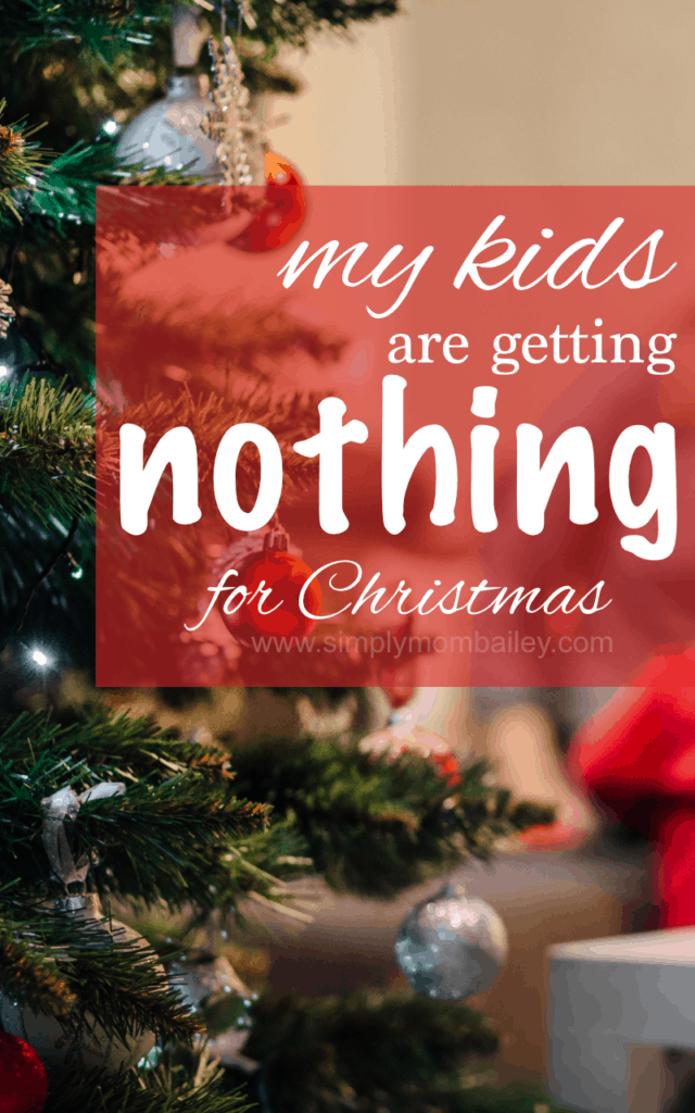 kids are getting nothing for christmas