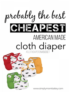 The Best Cheap Cloth Diaper Made in America for babies
