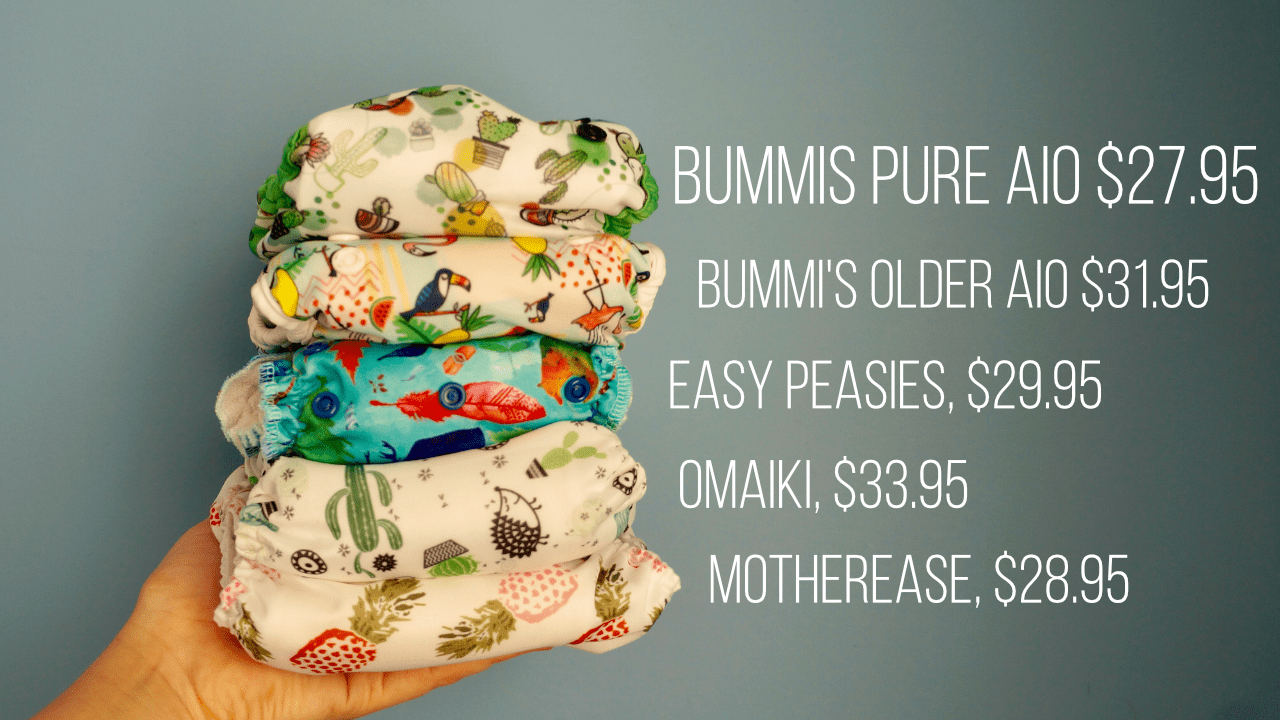 Made in Canada Cloth Diaper Price Comparisons (December 2017)