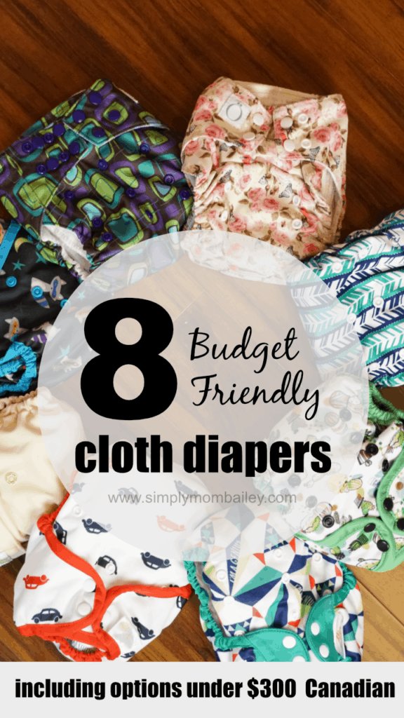 Budget Friendly Cloth Diapers #clothdiapers for under $300 Canadian (and up). Check out these different options for cloth diapering with finances in mind. #budget #budgetmama #onabudget