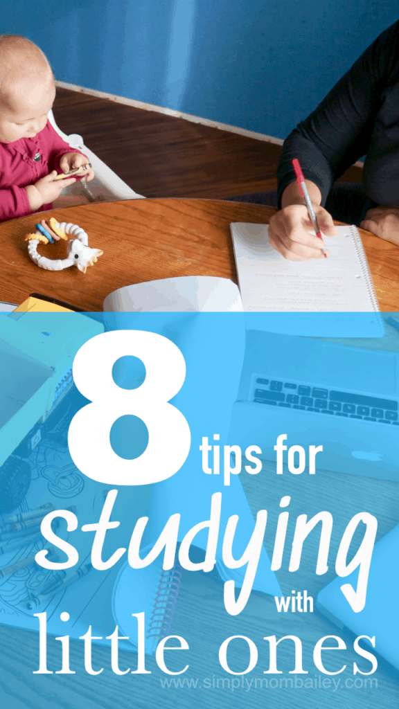 8 Tips for Studying with Babys and Toddlers - Moms in College - Student Mom #backtoschool #studyingwithkids #collegemom #studentmom #studyingtips #withkids #upgrading