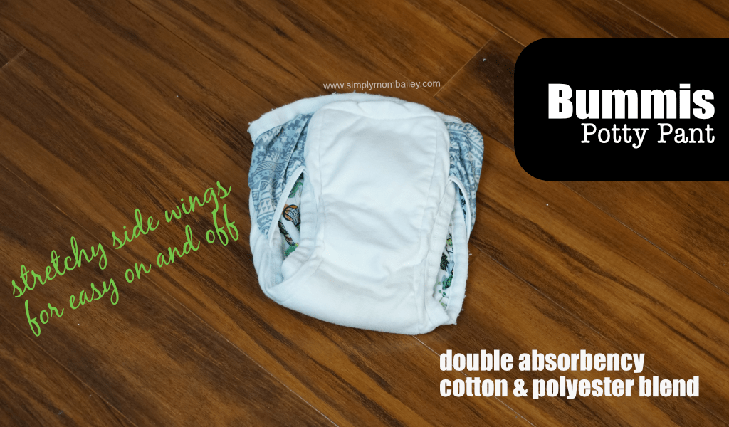 Bummis Potty Training Pant for Toddlers #pottytraining #toiletlearning #clothdiapers #toddlers Reusable Cloth Trainers for Kids for learning to use the toilet.