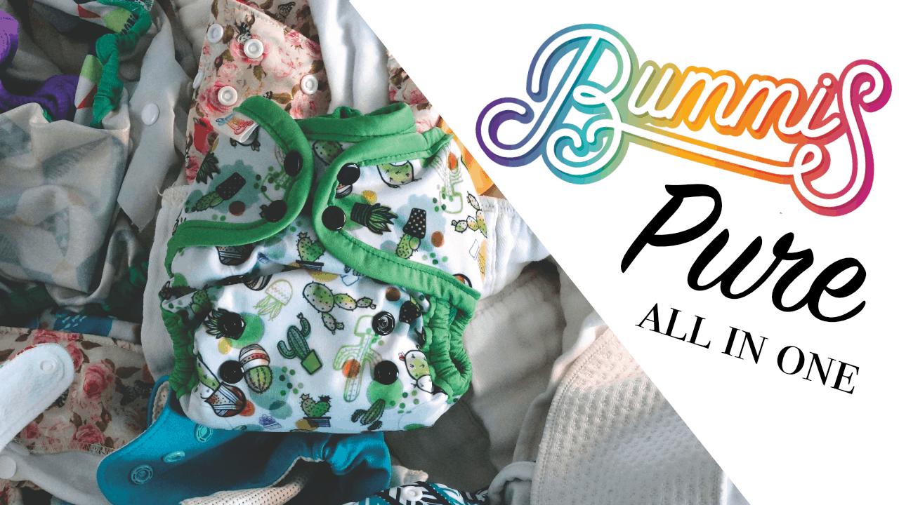 Bummis Pure AIO Cloth Diaper #clothdiaper #diapers #madeinCanada #allinone #reusable #curnchy