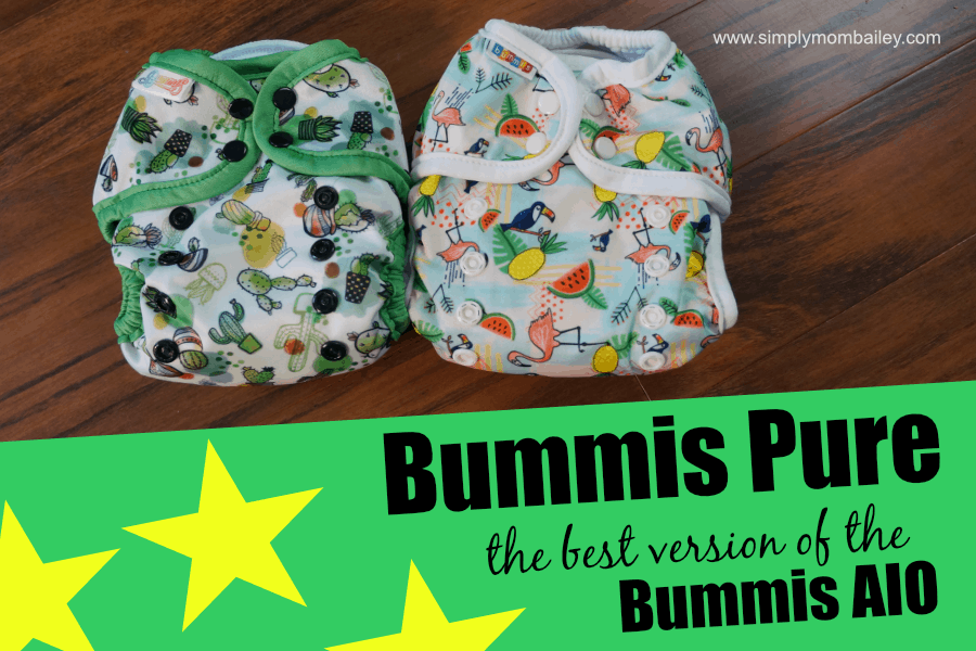 Comparison of the Bummis Pure to the Bummis AIO Canadian made cloth diaper.