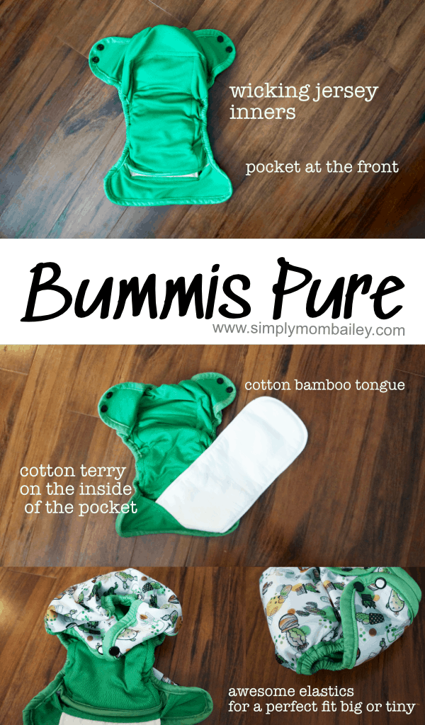Bummis Pure is a NEW AIO cloth diaper rocking the absorbency and made in Canada #clothdiaper #madeincana #diapers #infants #absorbent #bestclothdiaper
