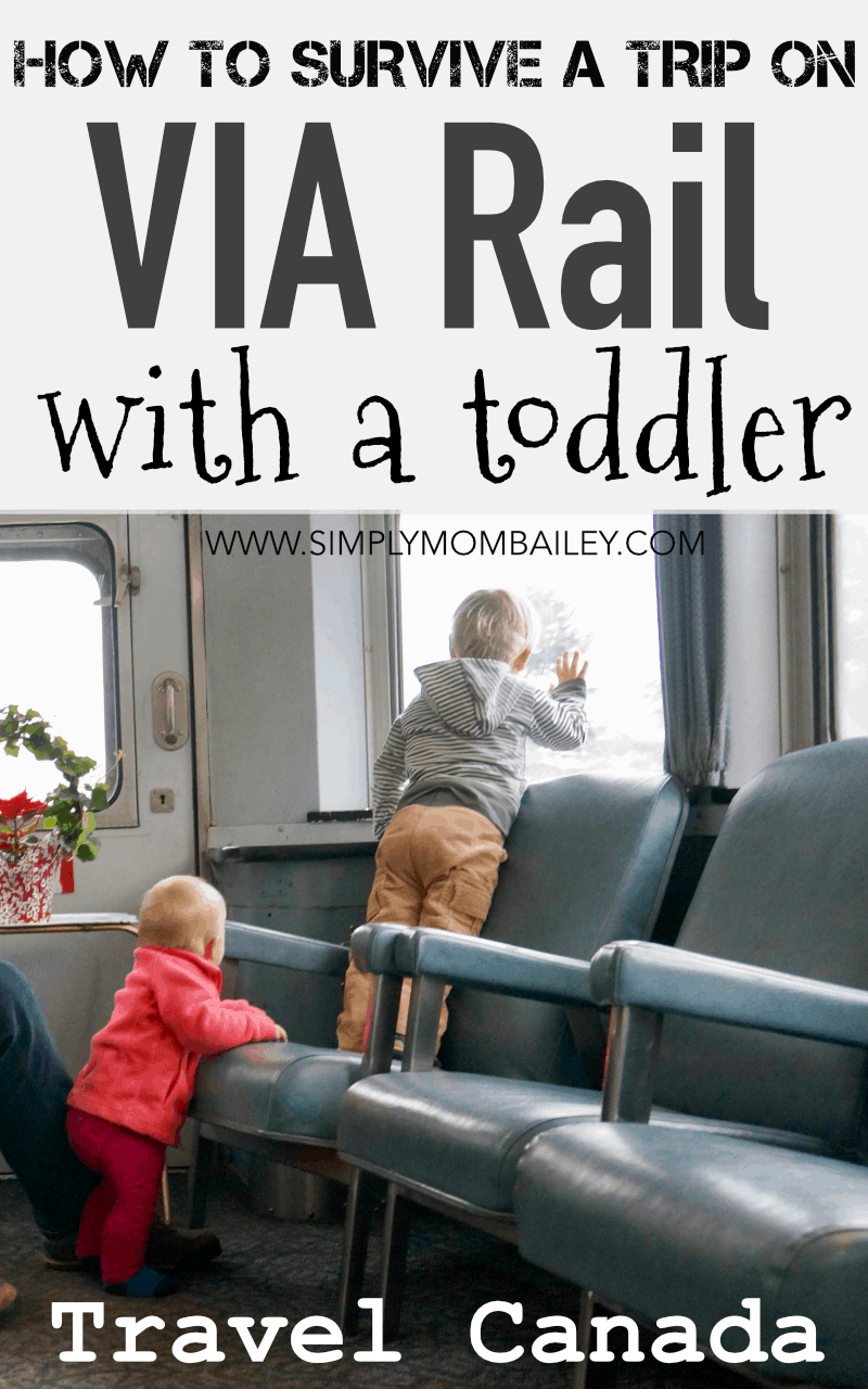 How to survive a via rail trip with a toddler