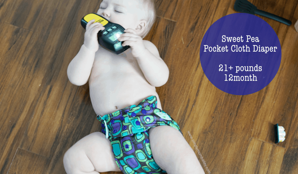 Sweet Pea Pocket Cloth Diaper on a Baby