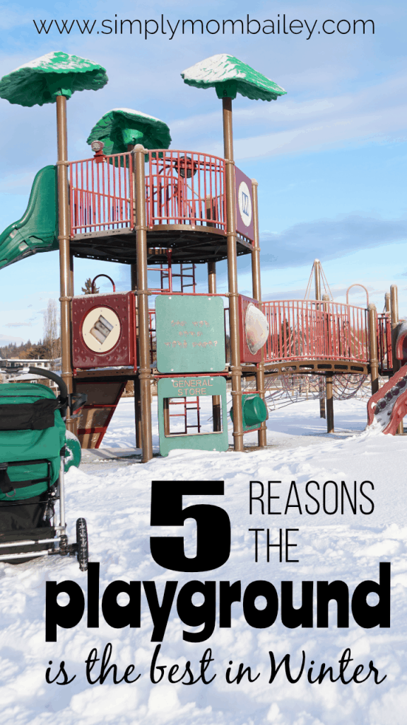 Ideas to do in the winter Visit the Playground #winteractivities #inthesnow #thingstodowithkids #sensoryplay #getoutside #princegeorgebc #kidsplay #outsideplay #outdoorplay #snow #play #getoutside #toddlers #mom #sahm #hike #playground #playing #ideas #tips #momlife