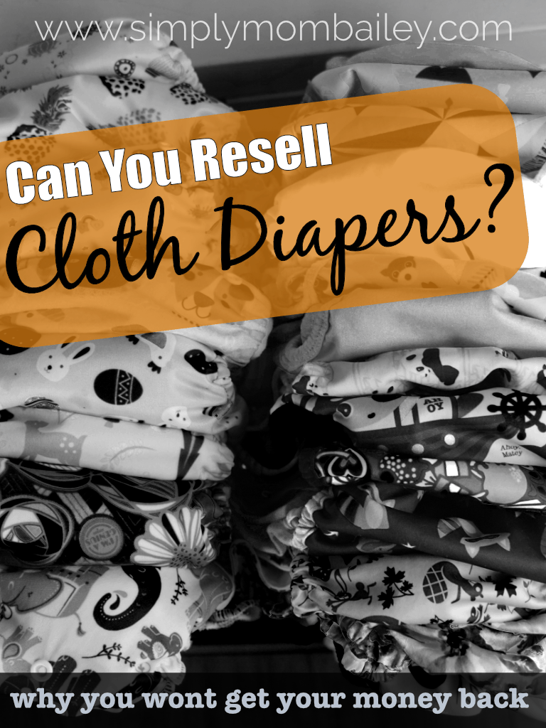 Can you resell cloth diapers? Is there value in used cloth diapers? #ecofriendly #clothdiapers #makeclothmainstream #budget #frugal #frugaltips #reducereuse #buylocal #clothdiaper101 #beginner #mom #momthings #forbaby #baby