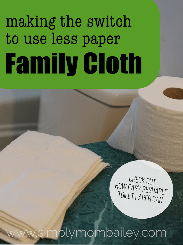 An easy switch from toilet paper to family cloth! #reusable #ecofriendly #environmentallyfriendly #reducepaper #ecofriendlyhousehold #laundry #cleaning #parenting #clothdiapers #tips #greenhome #gogreen #toilepaper #familycloth #crunchymom