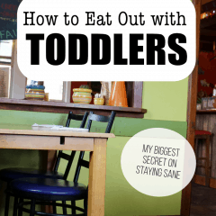 Eating out with Toddlers