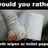 Would you rather cloth wipes or Toilet Paper