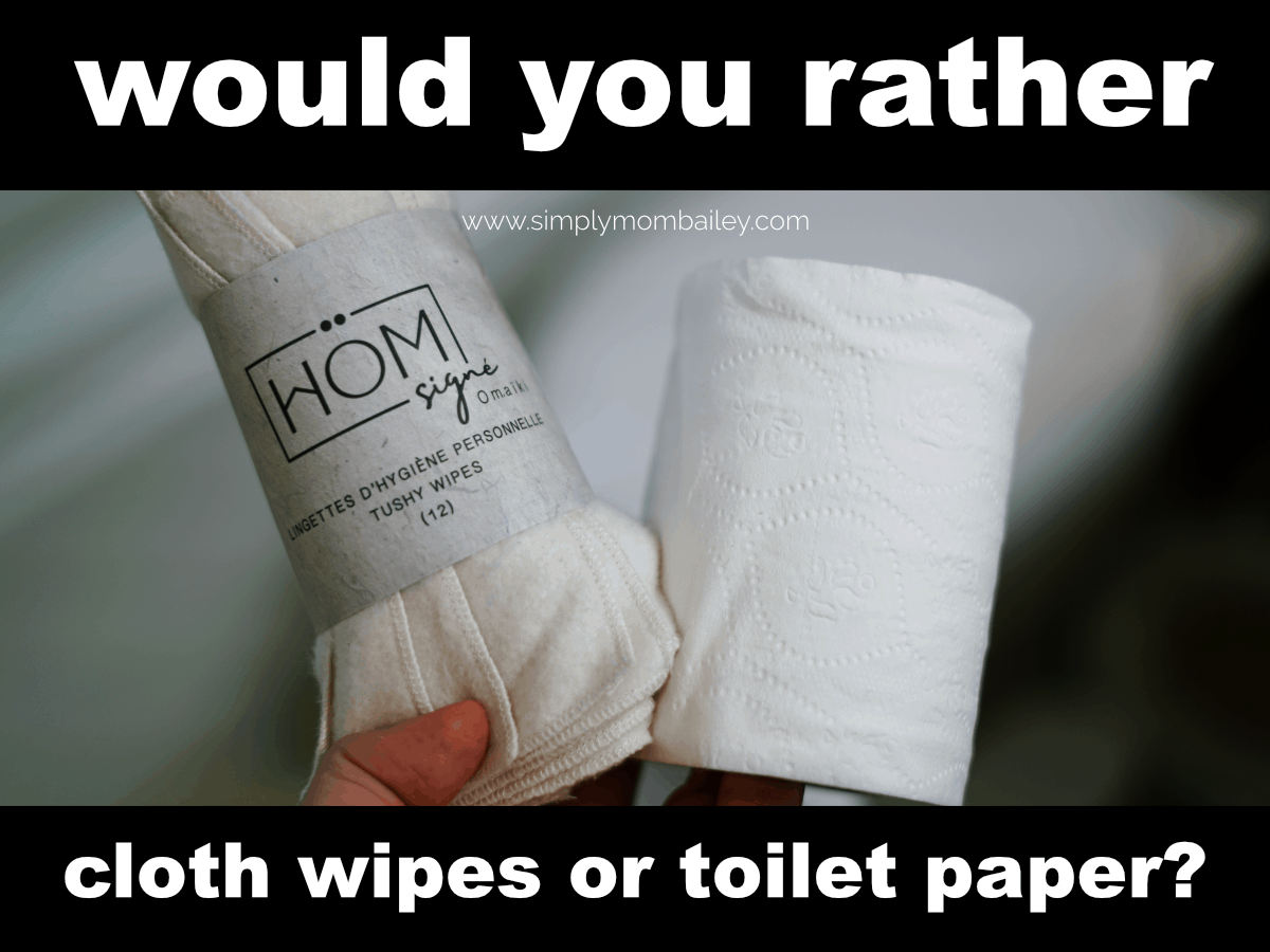 Would you rather cloth wipes or Toilet Paper? #ecofriendly #clothdiapers #familycloth #crunchymom #frugal #omaiki #madeinCanada