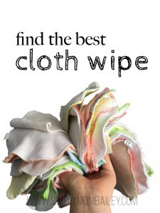 which cloth wipe is the best for cloth diapering #clothdiapers #clothwipes #disposablewipes #baby