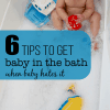 Baby hates the bath? Try these ideas from a real baby hating the bath mom. #bathtime #babytime #bondingwithbaby #babytips #parenting #momtips #bathtimeroutine #howtodobath