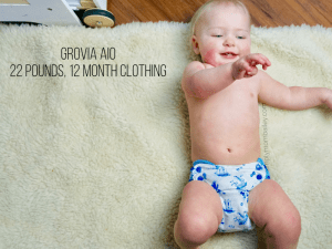 GroVia AIO Cloth Diaper on a Baby Girl