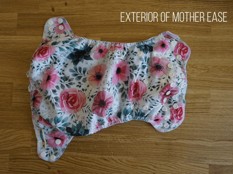 Mother ease AIO cloth diaper outside