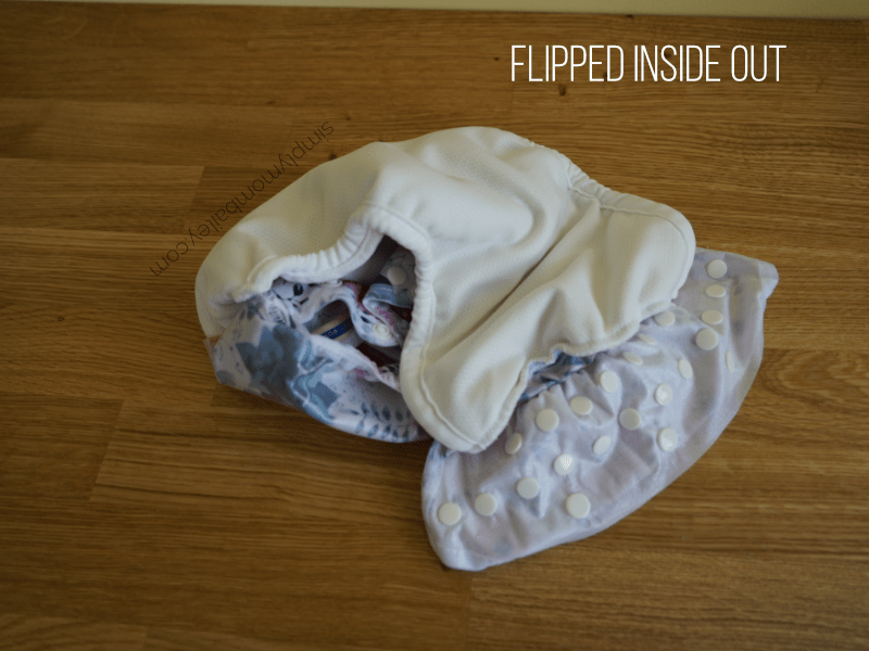 Mother-ease wizard uno flipped inside out aio cloth diaper