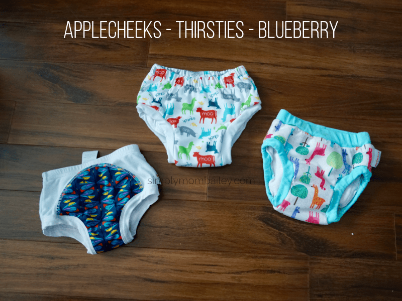 Comparison of Applecheeks - Thirsties and Blueberry Cloth Training Pants