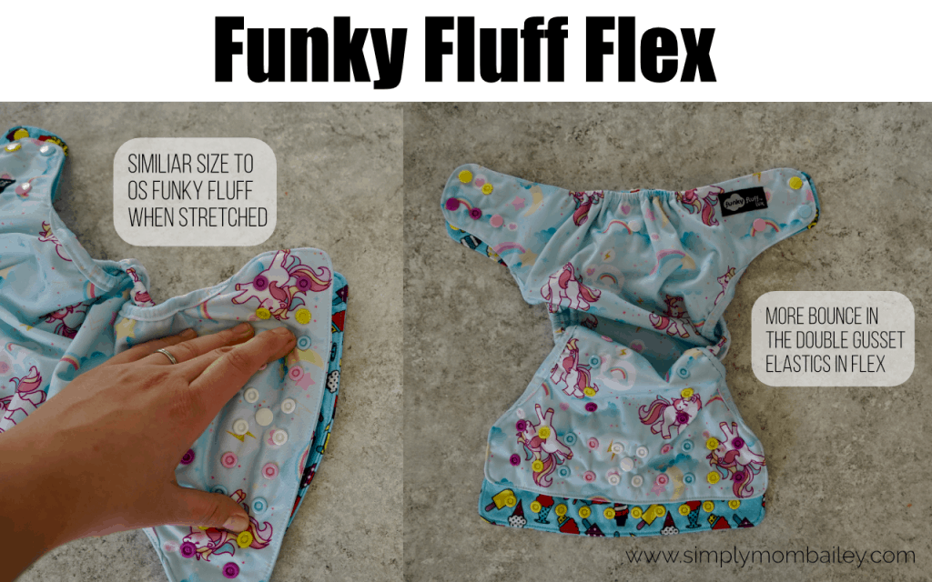 Funky Fluff Flex Compard to the Funky Fluff OS Cloth Diaper
