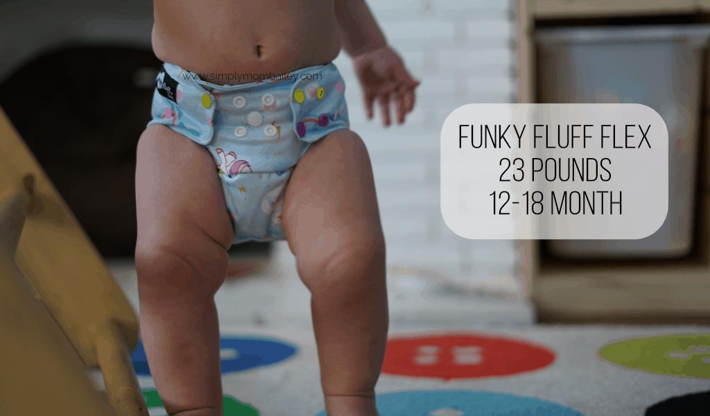 Funky Fluff Flex on a Baby 12 months
