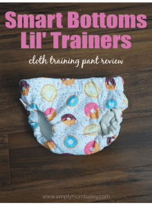 Smart Bottoms Training Pants Review for Cloth Pull Ups #pottytraining #learningpants #pullups #clothpants #clothpullups #underwear #toddler