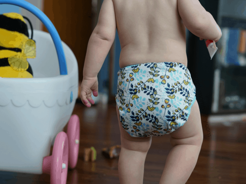 Thirsties Pocket Cloth Diaper on a toddler