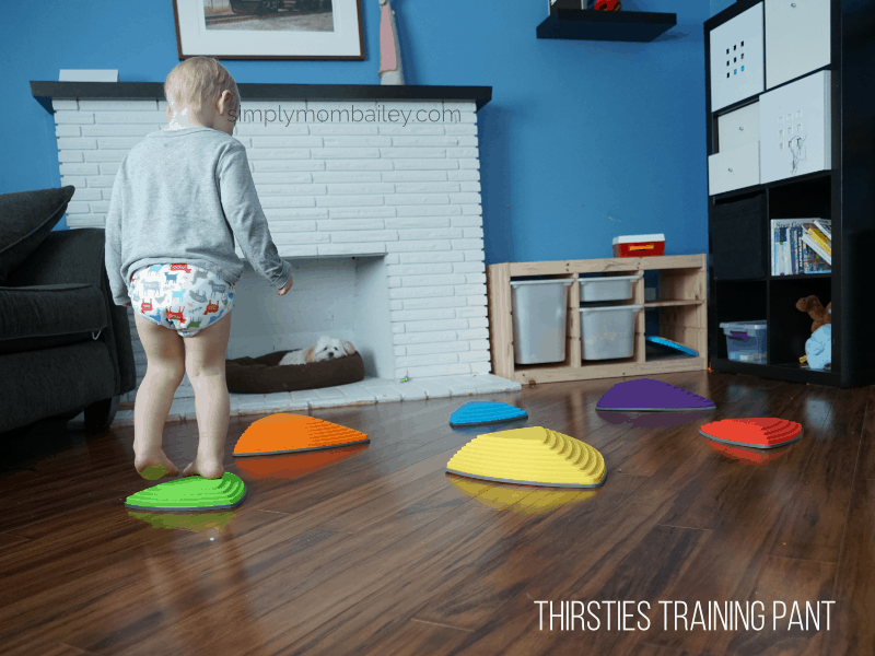 Thirsties Training Pants on a Toddler