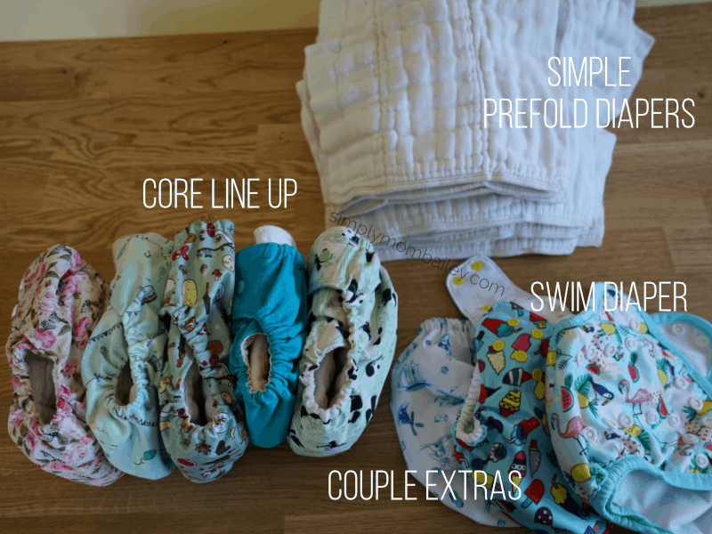 Travel Cloth Diaper Stash