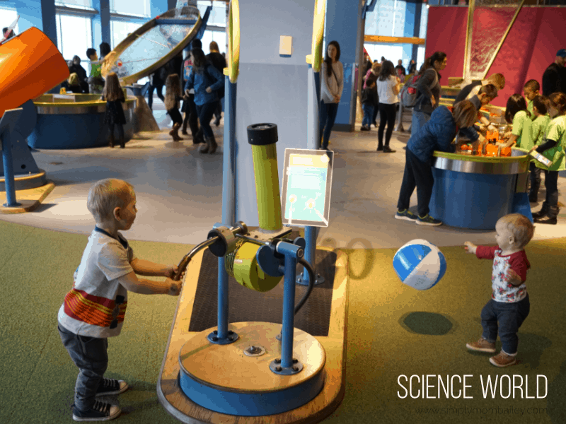 Vancouver with Toddlers - Visit Science World with Two Toddlers
