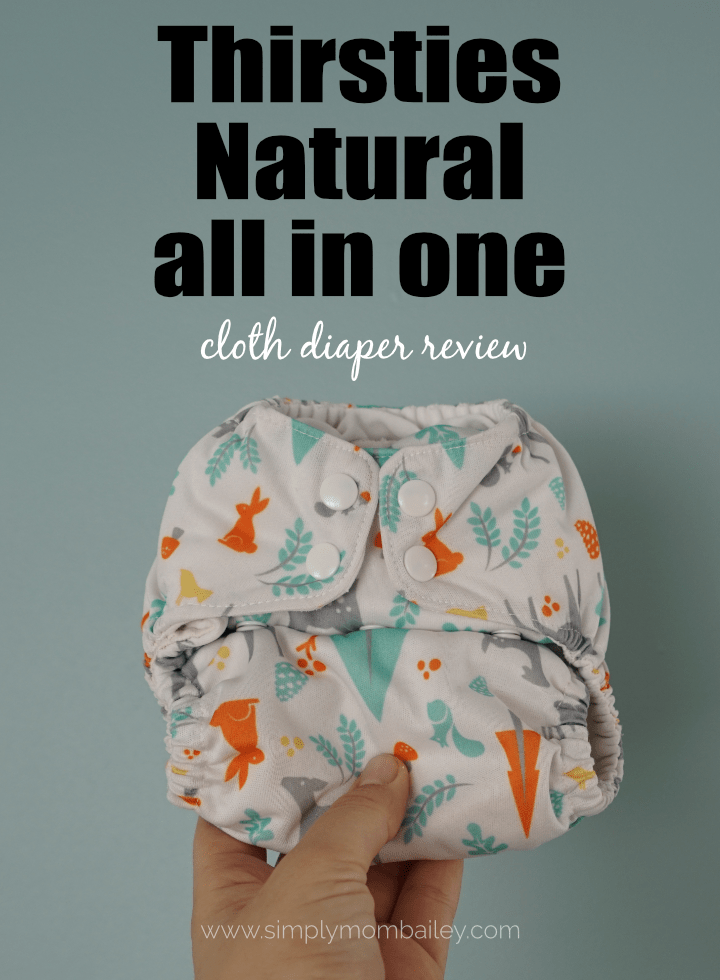 Cloth Diaper Review of Thirsties Natural All in One #diapers #clothdiapers #bestdiapers #thingsforbaby #babyproducts #diapers #natural #ecofriendly
