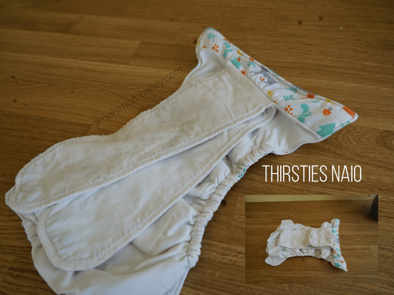 Inside of a Thirsties Natural All In One Cloth Diaper
