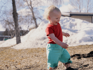 Little Green Radicals from Modern Rascal Long Shorts for Baby Girl