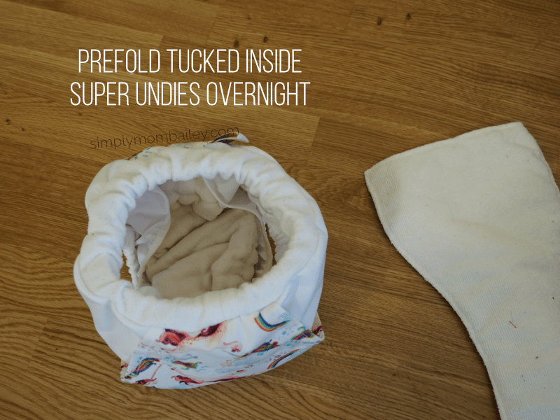 Super Undies Overnight with a Prefold
