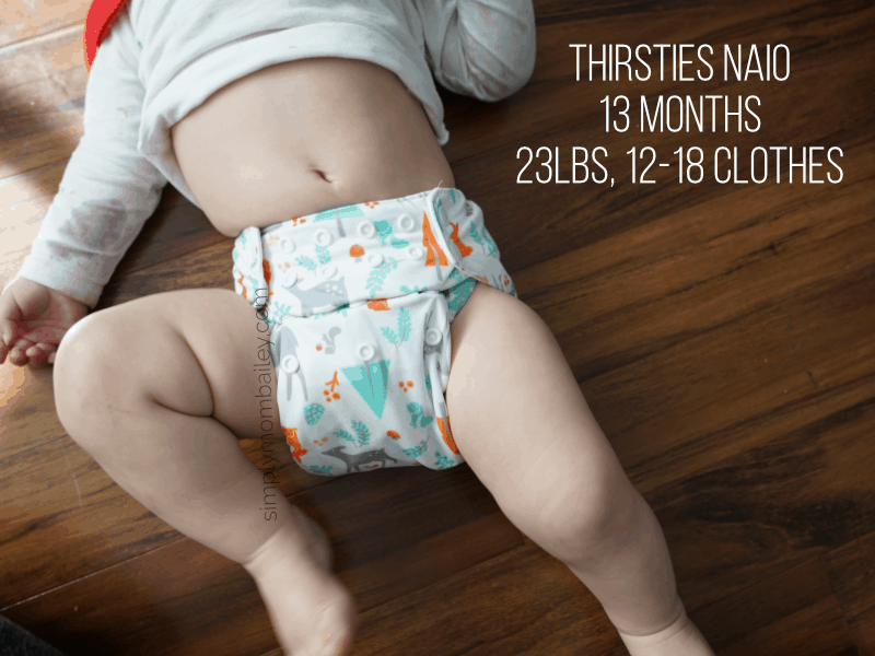 Thirsties NAIO on Baby 12 month old