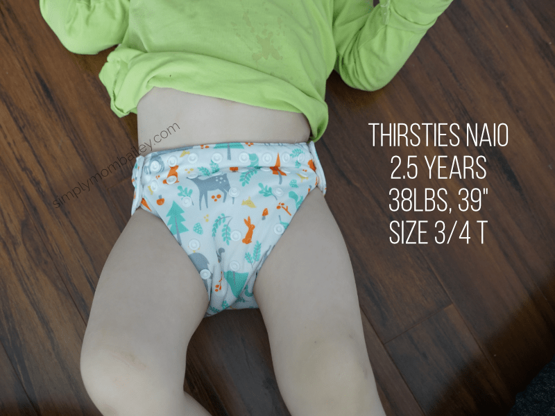 Thirsties NAIO on Toddler 35-40 pounds