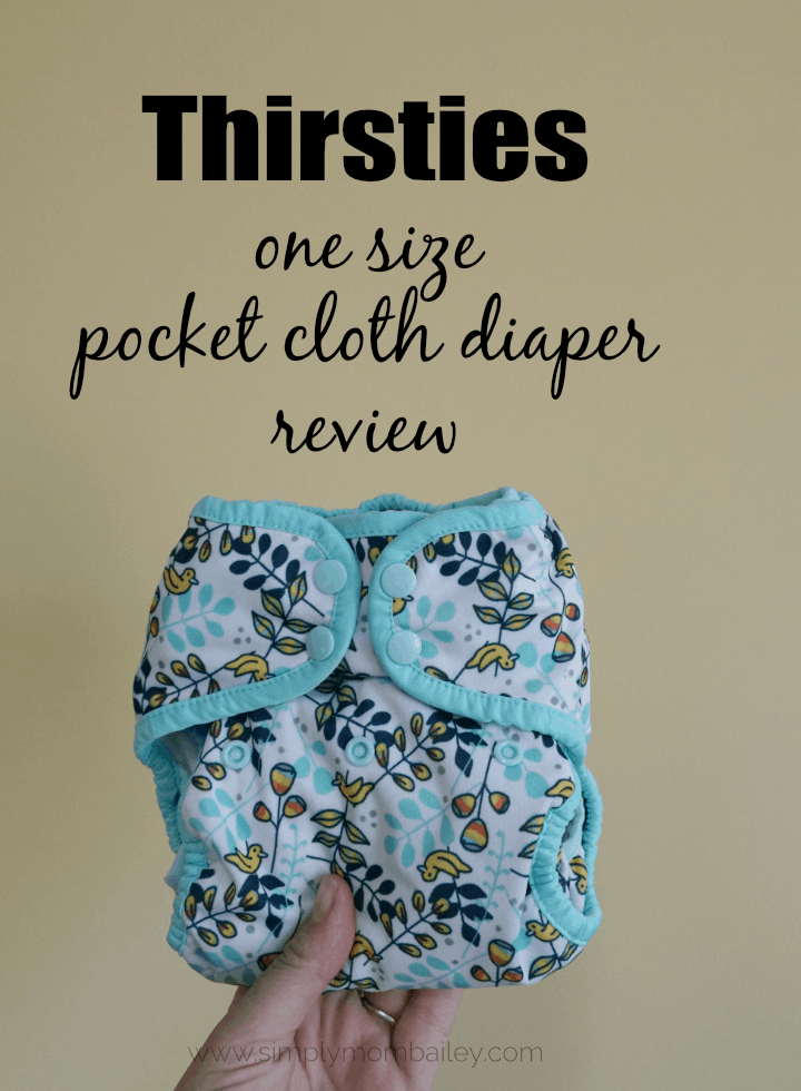 Thirsties OS Pocket Cloth Diaper Review #ecofriendly #clothdiaper #diapers #babies #easydiapers