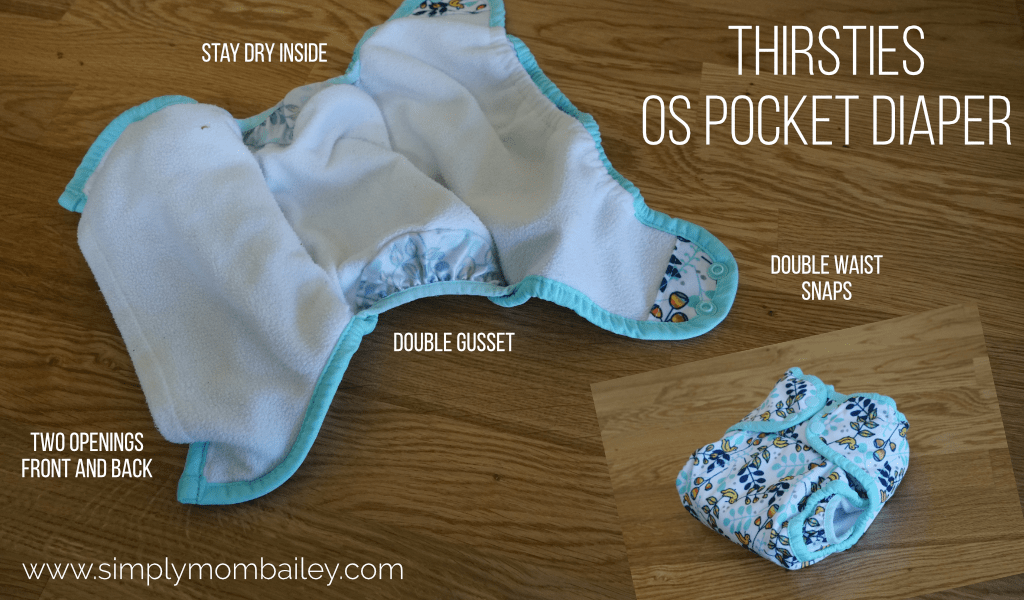 Thirsties OS Pocket Diaper Details