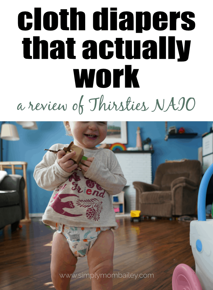cloth diapers that actually work - a reviw of the thirsties natural all in one cloth diaper #clothdiapers #ecofriendly #babythings #diapers #bestdiapers