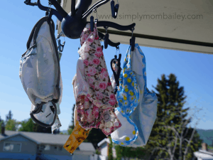 Cloth Diapers Drying Outsde for 2018 Flats Challenge